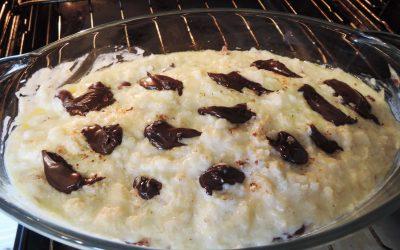 Rýžové vločky s rýžovým nebo rýžovo-kokosovým mlékem a ovocem