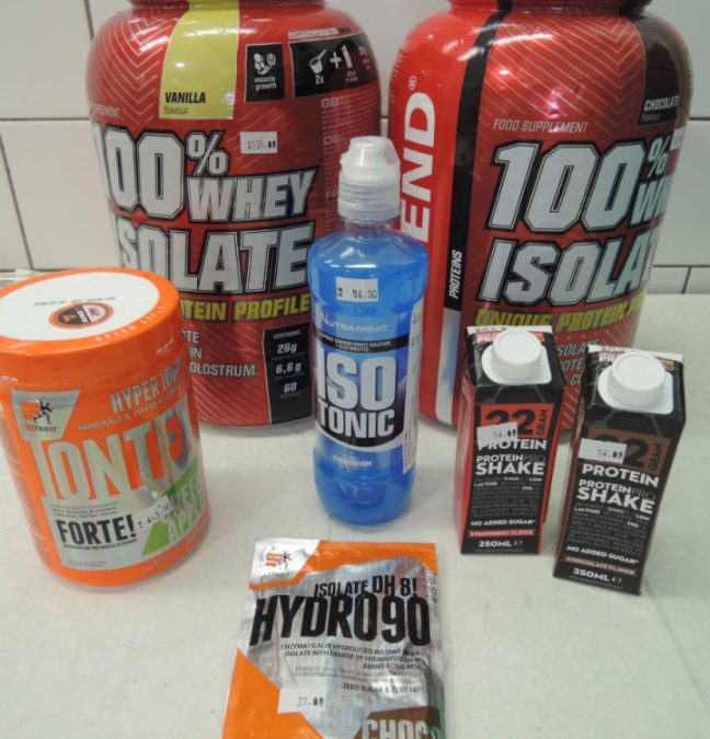 Prodej proteinových nápojů